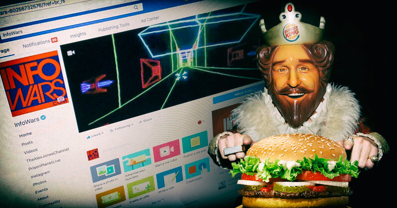 Image for Leftist Asks Burger King to 'Fight Infowars' on Facebook with Whoppers