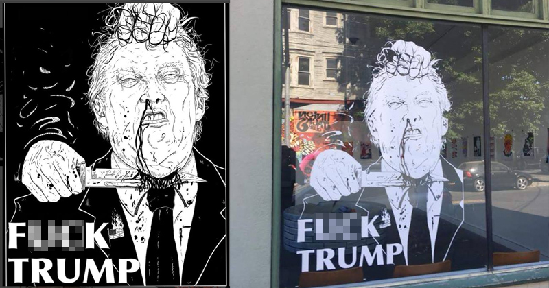 Image for 'F*ck Trump': Art Gallery Under Fire For ISIS-Style Trump Beheading
