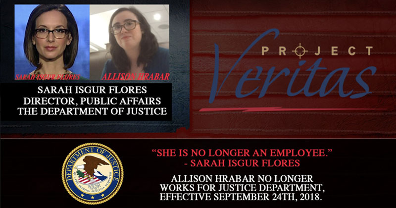 Image for Another Socialist DoJ Employee Fired After Veritas Expose