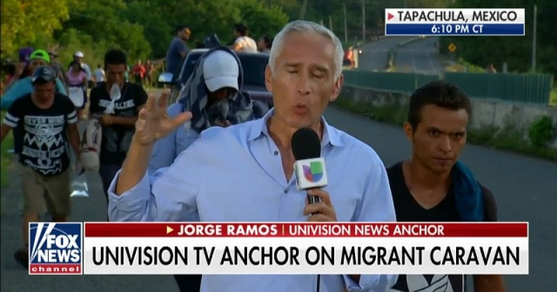 """Image for Jorge Ramos Says Migrants Aren't """"Criminals"""" As Migrants Cover Their Faces to Hide From Camera"""