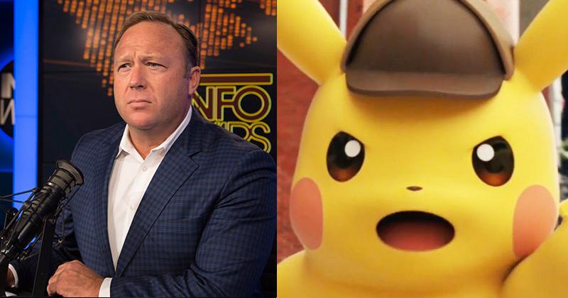 Image for Alex Jones Hijacks Pokemon-Detective Pikachu Trailer