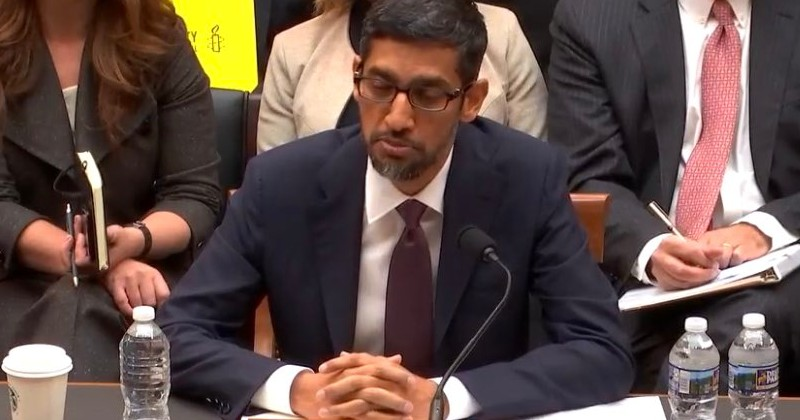Image for Sundar Pichai Lies to Congress About Google Tracking Location of Users