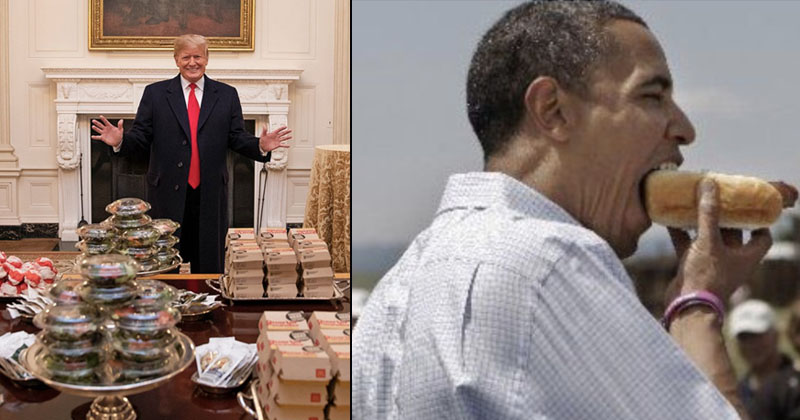 Image for Left Mocks Trump Fast Food Feast — But Obama Spent $65,000 on Hot Dogs!
