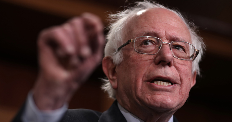 """Image for Flashback: Bernie Sanders Calls Food Lines a """"Good Thing"""""""