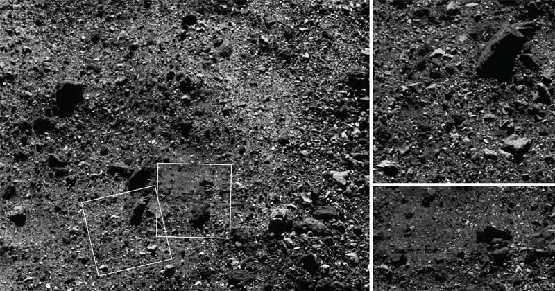 Image for An Asteroid's Surface Seen Close Up