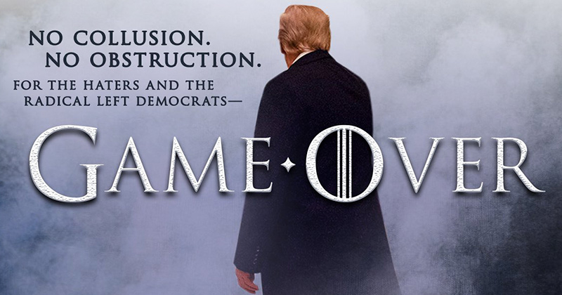 Image for Trump Trolls Left With Game of Thrones Meme Mocking Mueller Fanatics