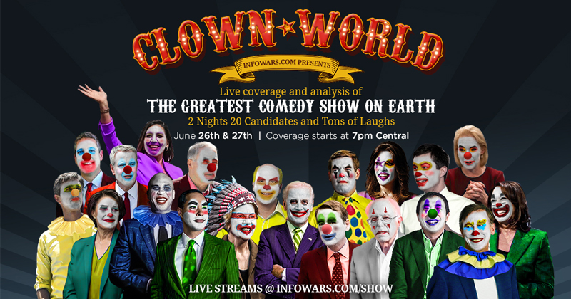 Live Clown World Coverage Of Dem Debate Share This Link
