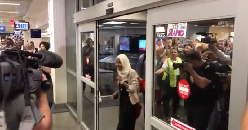 Image for Donald Trump: Rock Star Welcome for Ilhan Omar 'Staged' in Minnesota