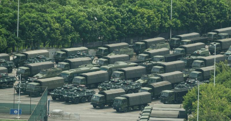 Image for Chinese Forces Run Exercises Along Hong Kong Border