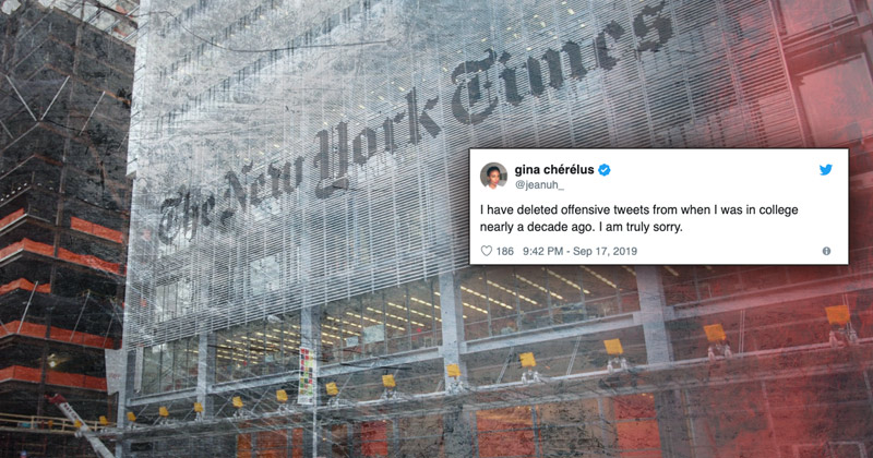 Image for Another NYT Editor Has to Delete Offensive Tweets Following Backlash