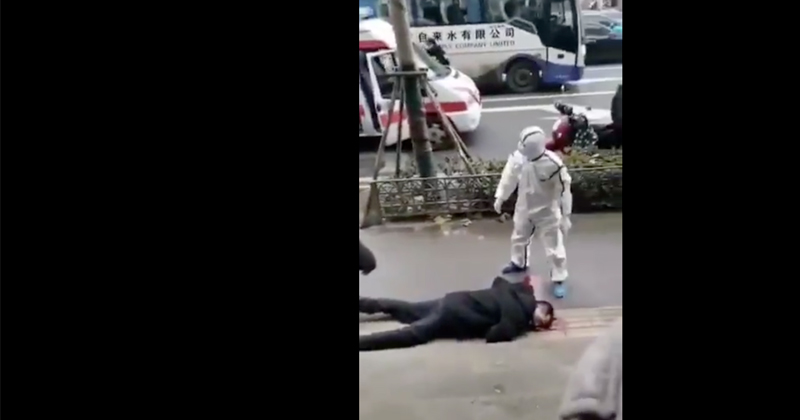 Image for Shock Videos Reveal Chinese Collapsing on City Streets As Coronavirus Spreads
