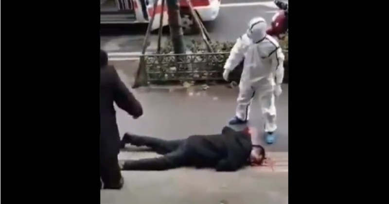 Image for Video Purports to Show Coronavirus Victim Collapsed on the Street in Wuhan