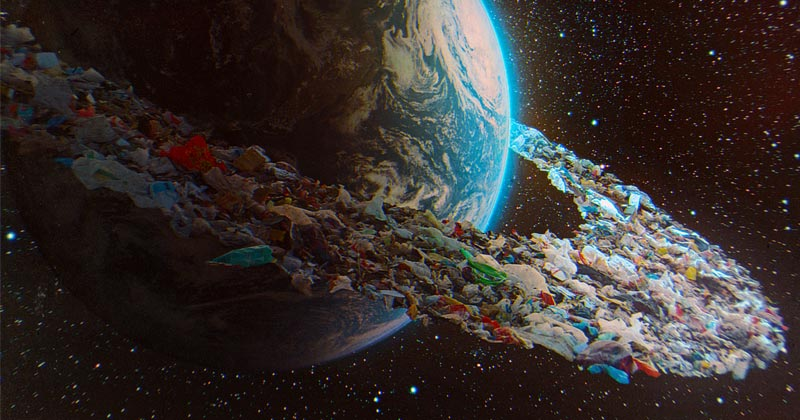 Image for Less than infinite: Space becoming an orbital landfill