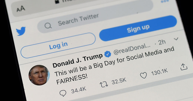 """Image for Twitter Censors Trump Tweet For """"Glorifying Violence"""""""