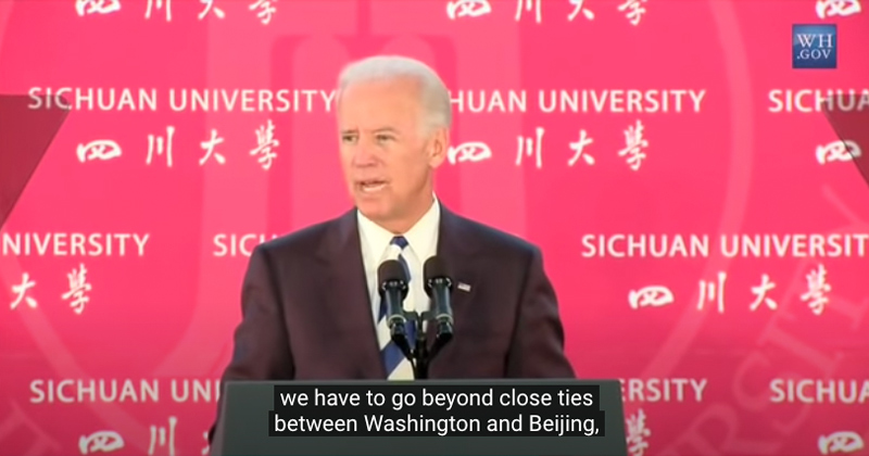"Image for Flashback: Biden Calls for Communist Chinese Influence in ""All Levels of Government, Classrooms… and Boardrooms"""