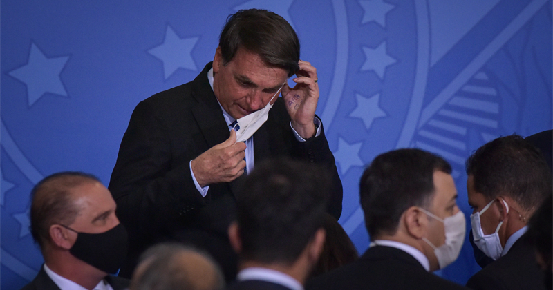 Image for Brazil's Bolsonaro Tests Positive for COVID-19