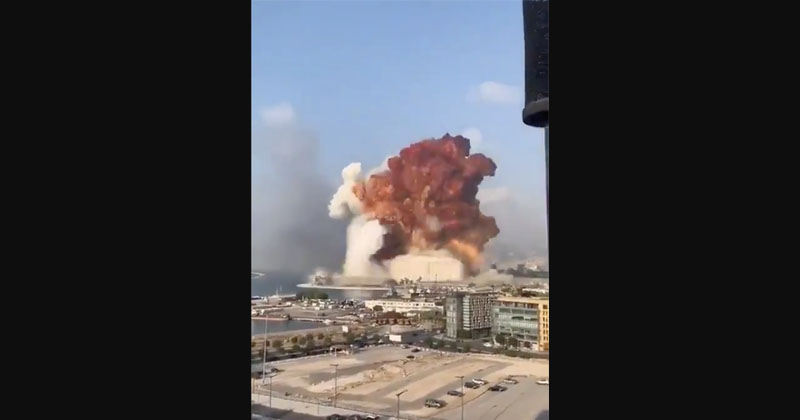 Image for Shock Videos: Massive Explosion Rocks Beirut, Thousands Reportedly 'Covered In Glass And Blood'