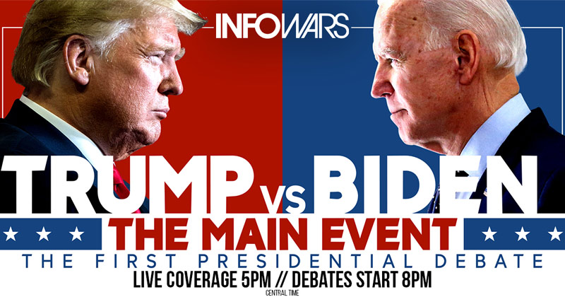 Image for Exclusive Live Coverage of the 1st Trump/Biden Presidential Debate Is LIVE – Click Below & Share