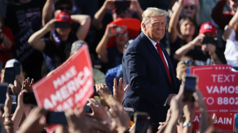 Image for President Trump Says More Coming From Biden Laptop At Massive Rally In Florida: Watch Live