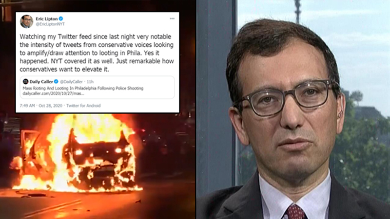 Image for NYT Reporter Slams Conservative Media For Seeking to 'Draw Attention' to Philly Riots