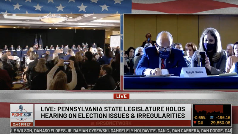 Image for Must See: Pennsylvania State Legislature Holds Public Hearing on 2020 Election