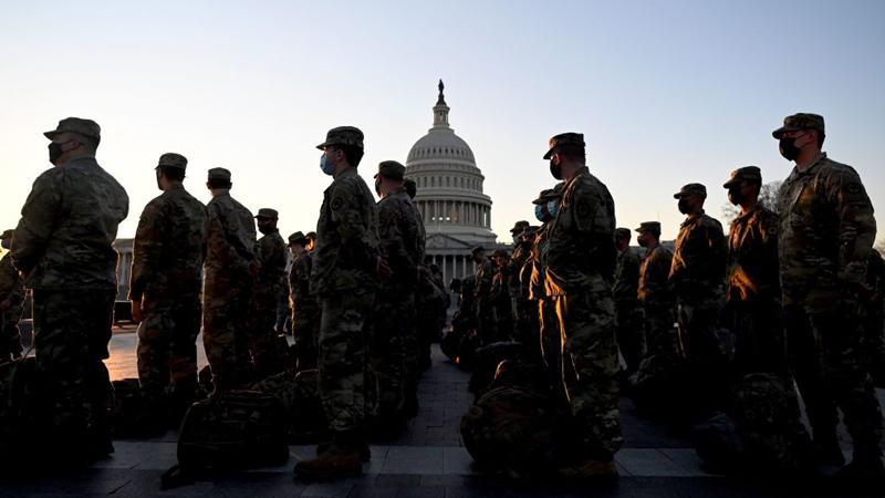 Image for Must Watch Friday Live! 25,000 Troops Now in DC to Protect Phony Inauguration of America's First Dictator Joe Biden
