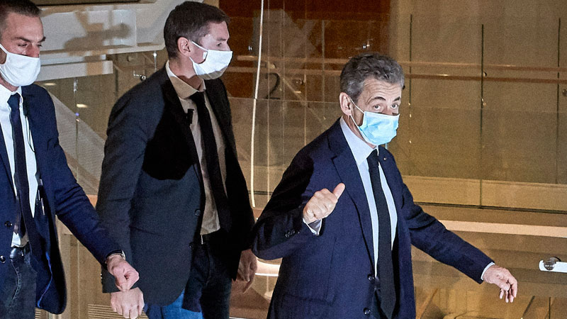 Image for Ex-French president Sarkozy sentenced to year in prison for corruption, plus 2 years suspended