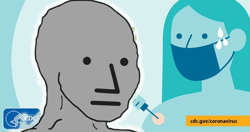 Image for CDC Raises Eyebrows For Using Character Image Almost Identical to NPC Meme