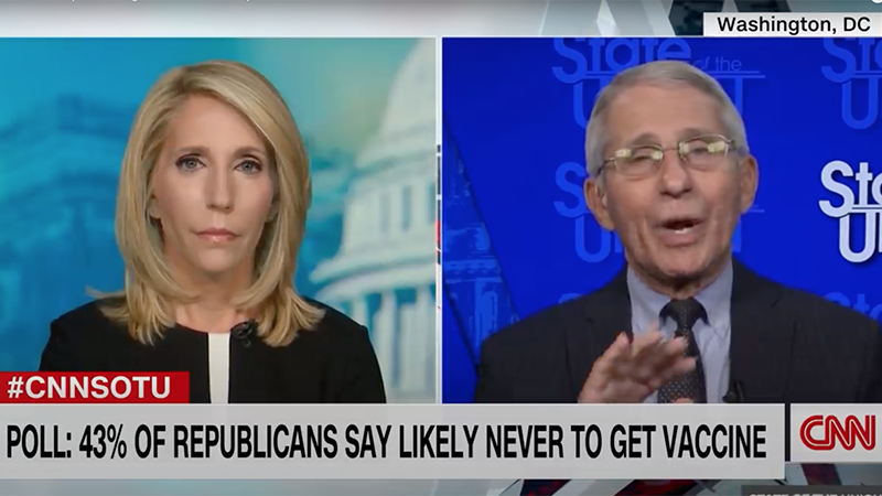 Image for Video: Fauci Repeats 'This Has Nothing To Do With Liberties' Talking Point
