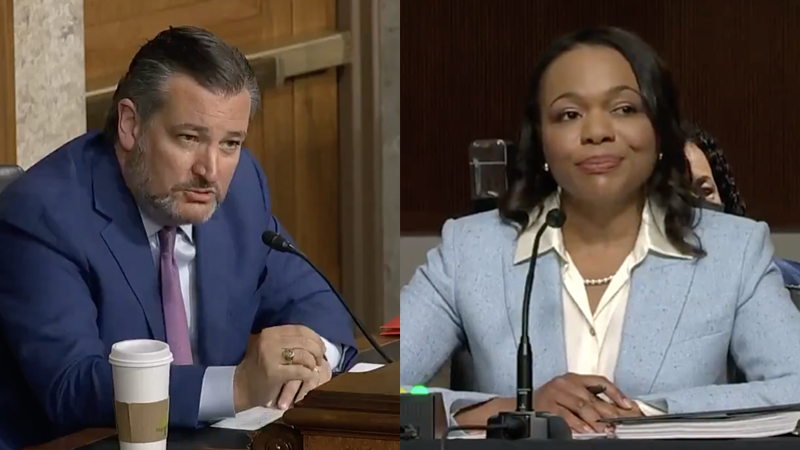 Image for Ted Cruz Catches Biden Civil Rights AG Pick In Bald-Faced Lie About Defunding The Police