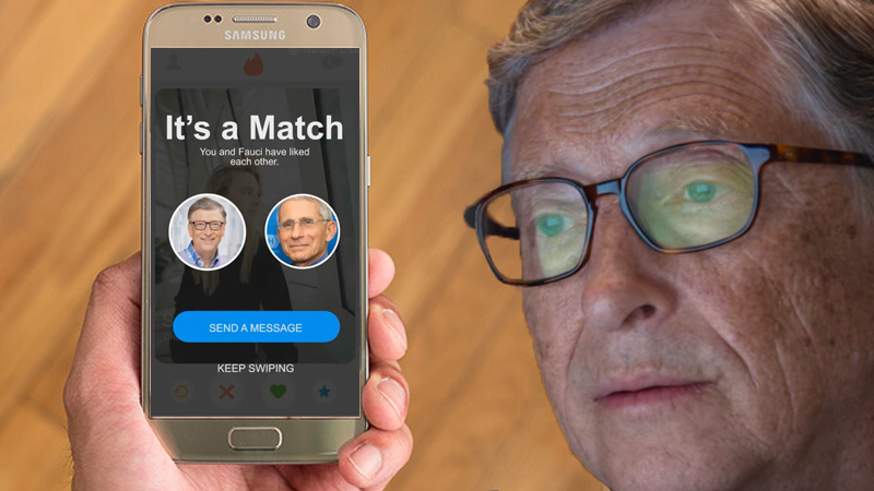 Image for Evil Finds Love: Bill Gates 'Matches' With Fauci on Dating App Following Divorce (Satire)
