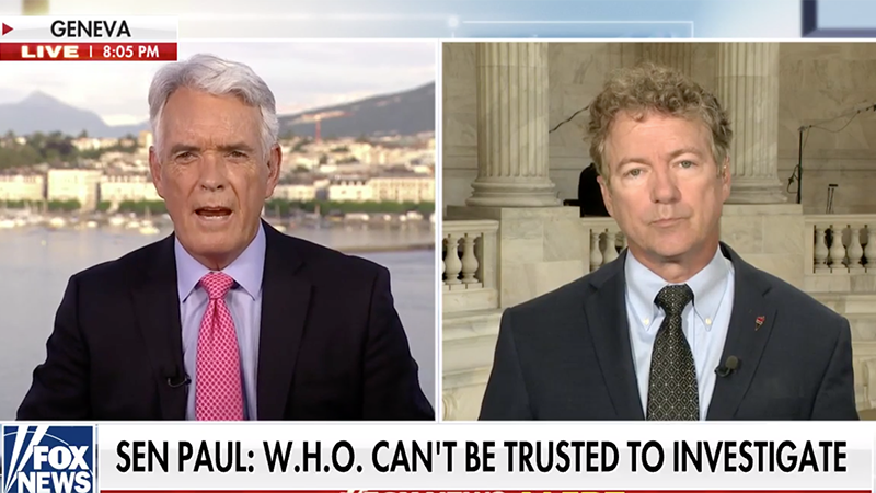 Image for Video: Rand Paul Demands Exclusion Of Wuhan Lab Funders From Investigations