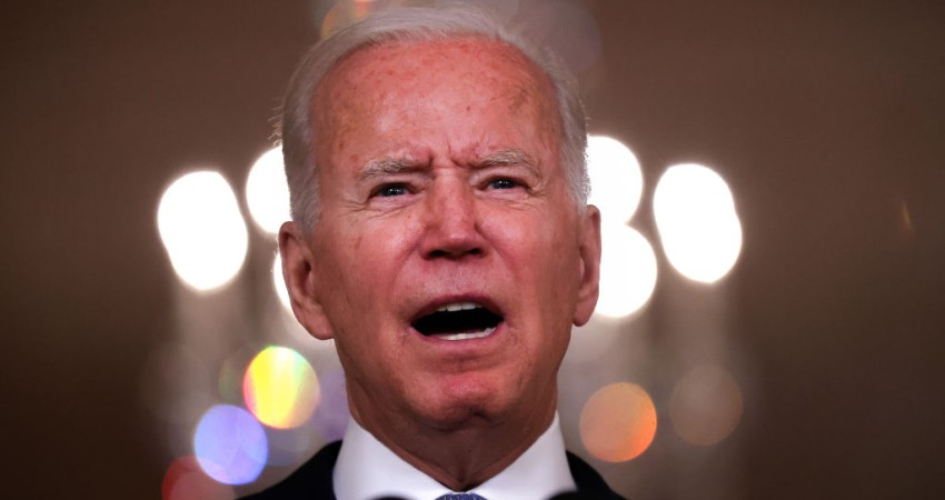 Image for Biden doubles down on Afghanistan exit 'triumph' in belated, recycled and rambling speech
