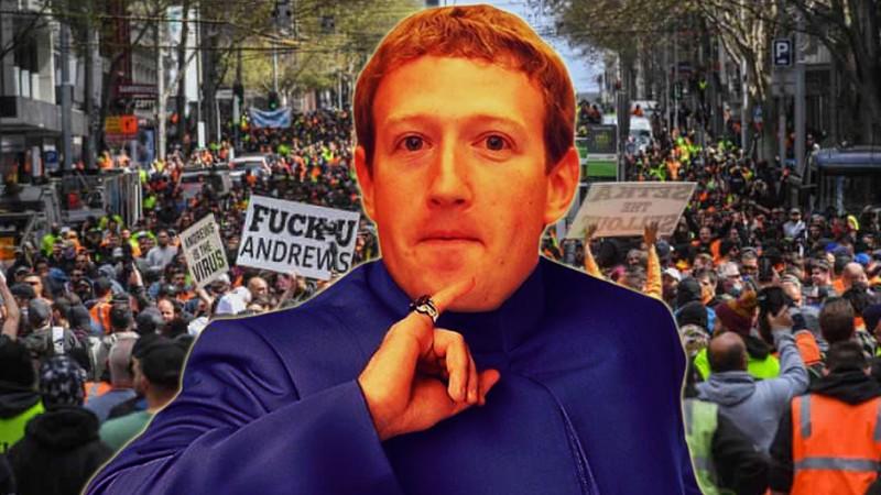 Image for Facebook Blocks Aussie Orange Vests From Livestreaming Protests