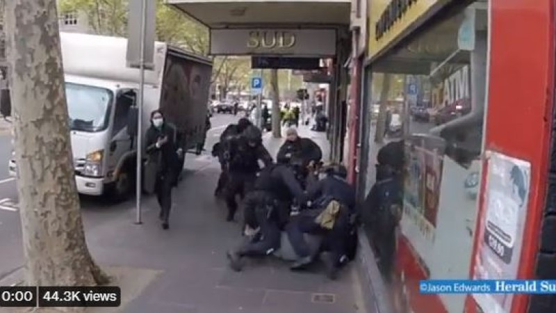 More Disgusting Police Brutality in Australia as Orange Vest Protests Continue – NewsWars