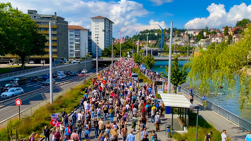 Swiss Launch Major Protests Against COVID Passports