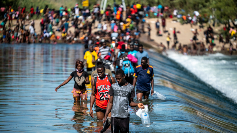 Image for Breaking! Dozens of Haitian Caravans Numbering Over 50,000 Have Literally Invaded Mexico & Are Now Surging Over Texas Border Like A Tidal Wave