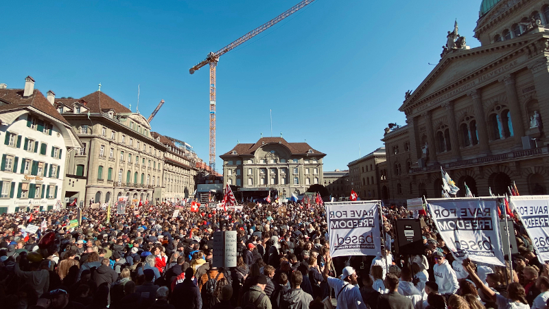 Image for Switzerland: Massive Protest Against Vax Passports, COVID Tyranny in Capital City