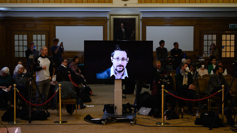 Image for Snowden tells Tribunal: If you love truth, you're as much of a criminal as Assange and risk sharing his fate