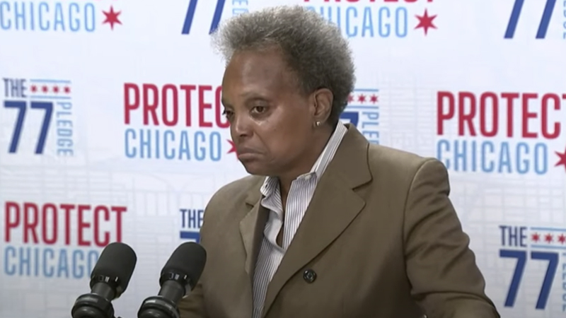 """Image for Chicago Mayor Lightfoot Says Fraternal Order of Police Attempting to """"Induce an Insurrection"""" by Opposing Vaccine Mandates"""