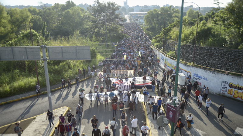 Image for Large Migrant Caravan In Mexico Heading To Collapsed U.S. Southern Border